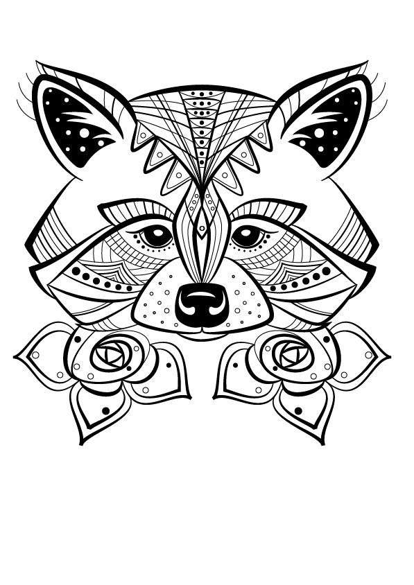 Renard colorier silhouette ideas free adult coloring pages paper quilling patterns - Silhouette a colorier ...