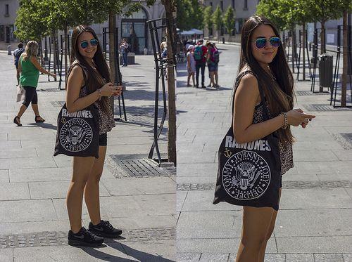 Downtown Madrid <3  #Summer #Airmax #Ramones #Ombrehair #Longhair
