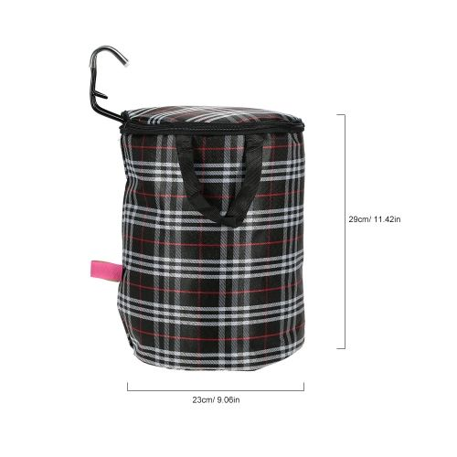 Bicycle Bike Detachable Cycle Canvas Front Basket Carrier Bag Steel Frame