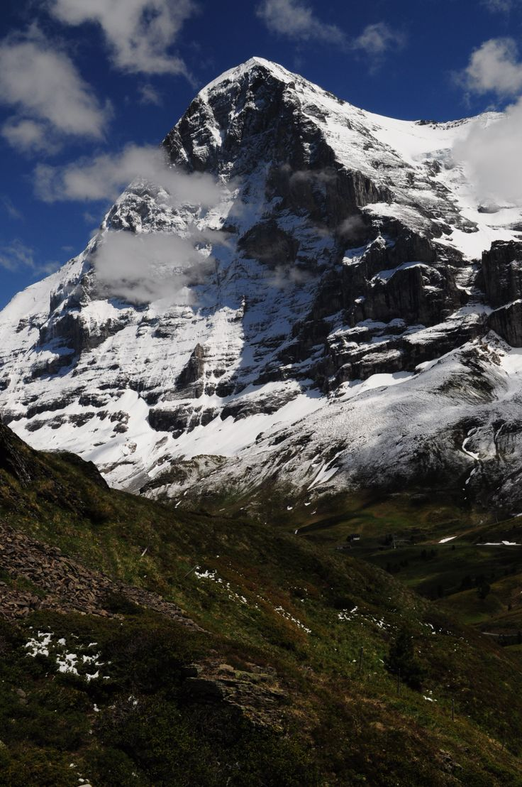 The Eiger North Face Bernese Oberland Alps Switzerland