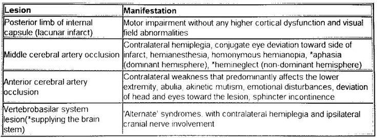 lacunar stroke types