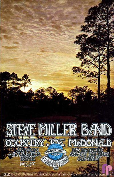 Steve Miller Band, Country Joe  at Winterland