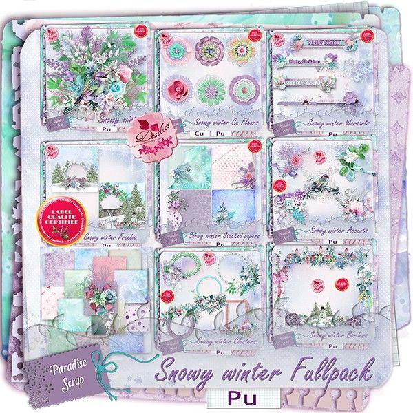 **NEW** Snowy Winter by Desclics  Available @ http://www.paradisescrap.com/fr/376-desclics