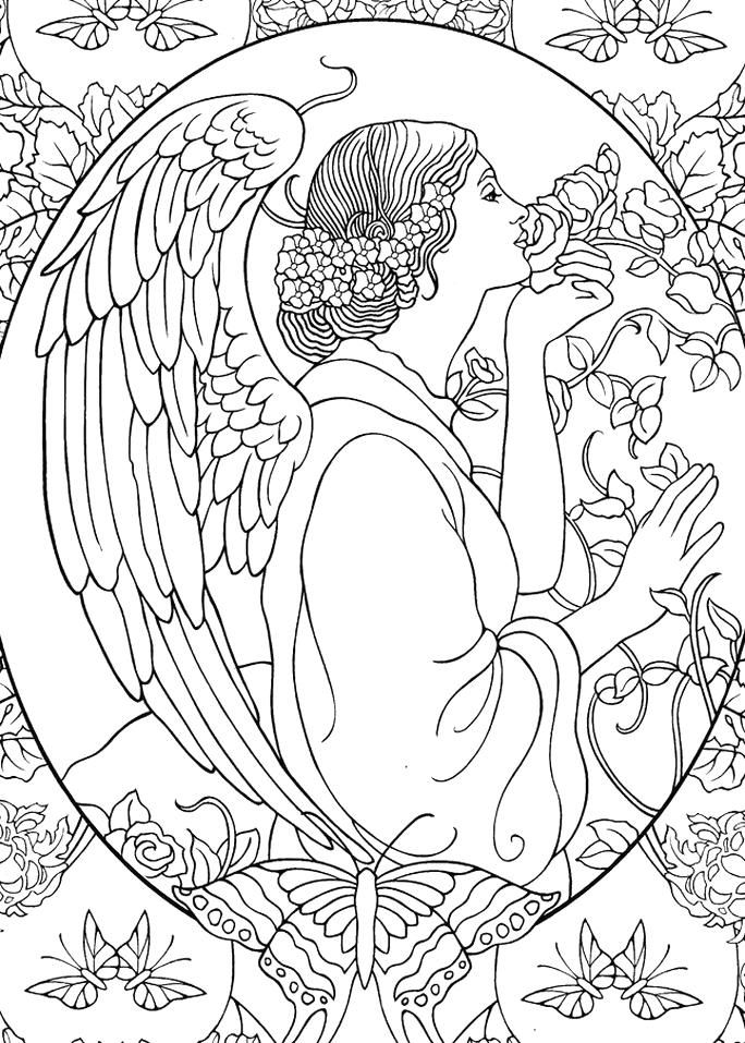 Pin By Sylvia Brown On Colouring Outline Angel Coloring Pages Coloring Pages Coloring Books