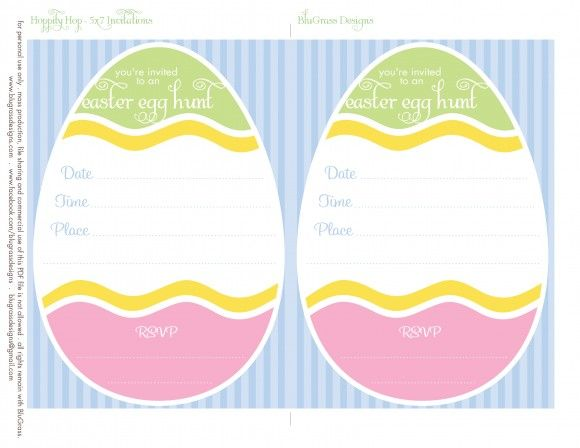 14 best images about Easter Invitations templates on Pinterest
