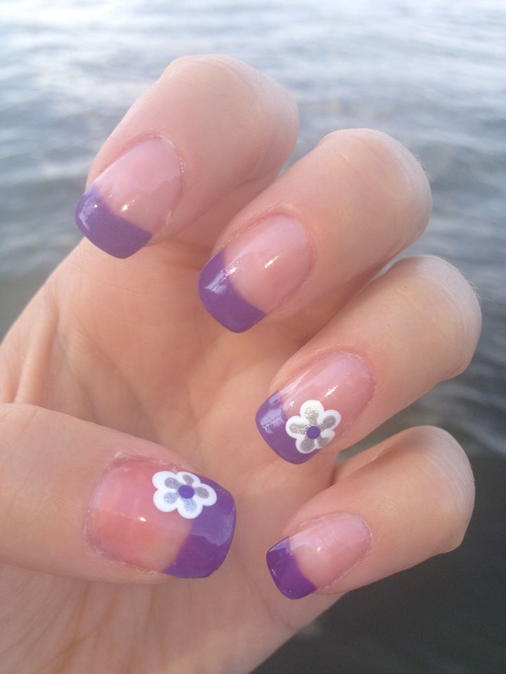 83 best nail design images on pinterest nail scissors breast purple french tips prinsesfo Image collections