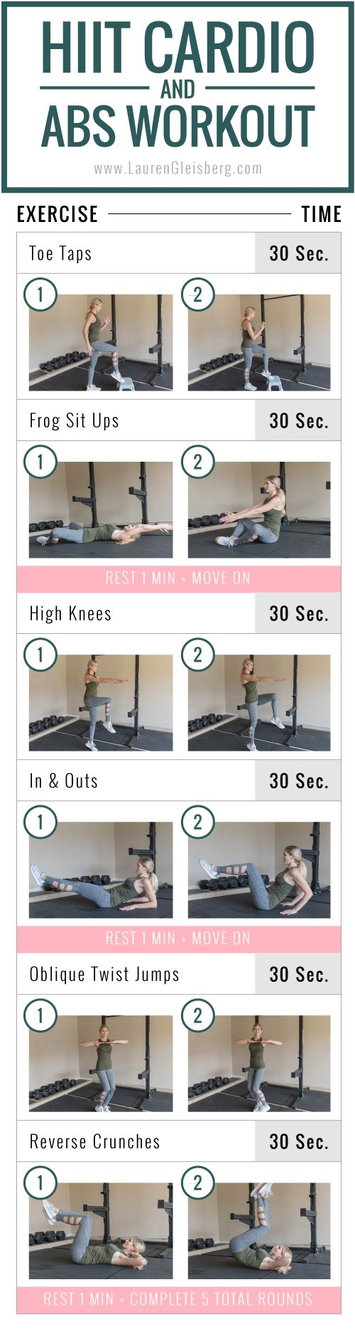 Happy Thanksgiving! Here is a quick yet intense HIIT cardio and ab workout that you don't need any equipment to complete. I thought it would be perfect to squeeze in today no matter if you're home or