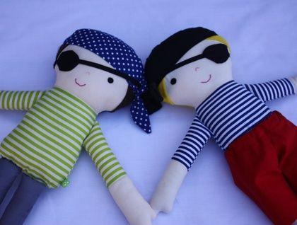 Fabric Pirate Doll