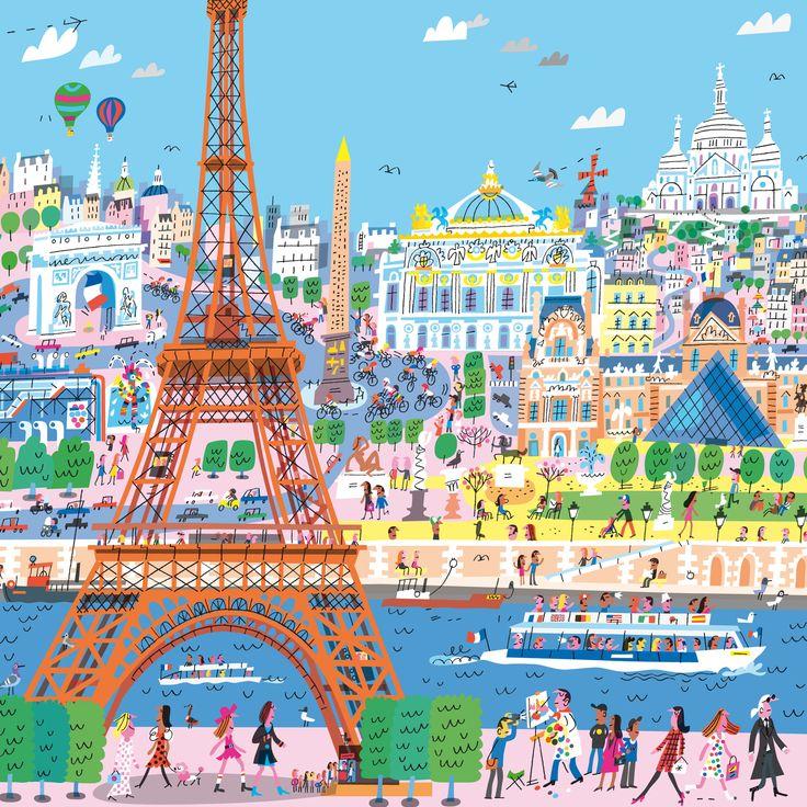 Paris Illustration: 25+ Best Ideas About Paris Painting On Pinterest