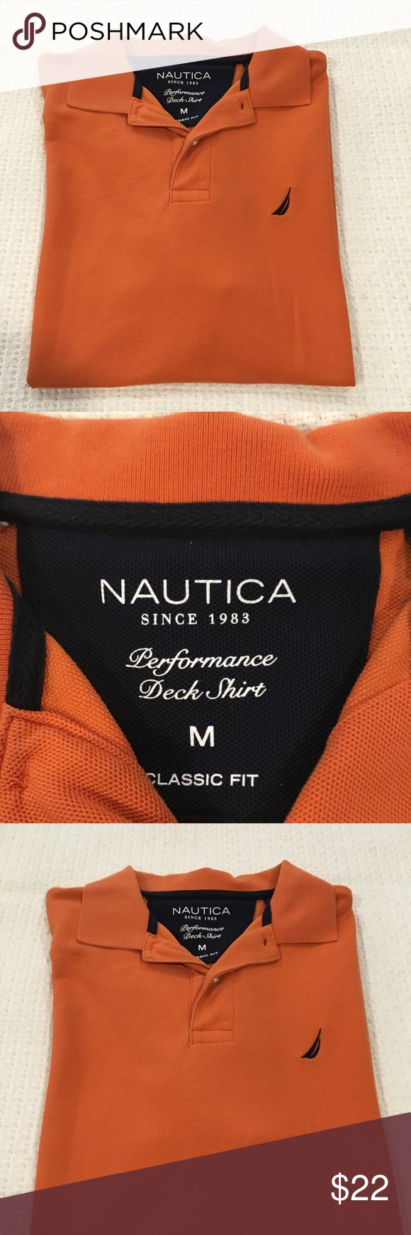 Men's Nautica - Orange polo shirt Nautica polo shirt size medium, Orange Nautica Shirts Tees - Short Sleeve