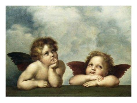 Painting of Cherubim After a Detail of Sistine Madonna Giclee Print