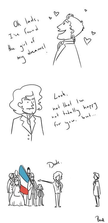 Priorities, Marius. Ehehehe, Enjolras is having NONE OF IT.