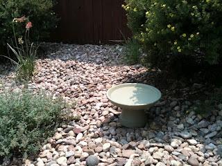 homemade bird bath from clay pots!