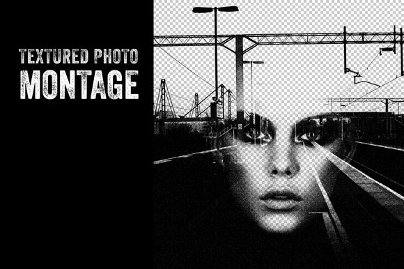 Textured Photo Montage by Offset on Creative Market