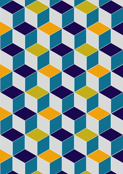 Cube Geometric III by AJJ ▲ Angela Jane Johnston Handmade tiles can be colour coordinated and customized re. shape, texture, pattern, etc. by ceramic design studios
