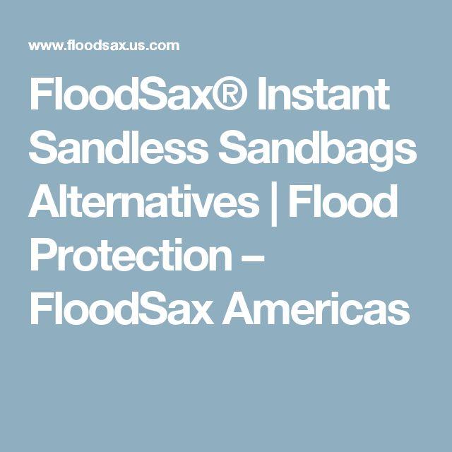 FloodSax® Instant Sandless Sandbags Alternatives | Flood Protection – FloodSax Americas