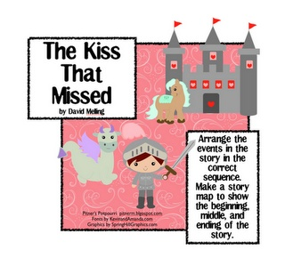 Free!!! Adorable sequencing activity!!!!  The Kiss That Missed!