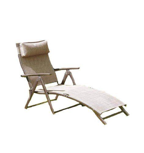 havana folding sun lounger bronze cushion discount from to