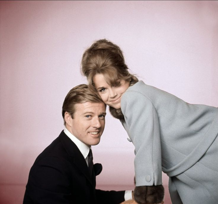 Robert Redford and Jane Fonda in a publicity portrait for Barefoot in the Park (1967).