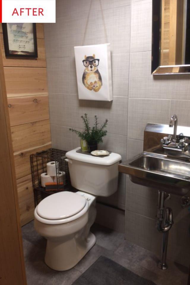Before And After This Ranch Basement Got A Brand New 3k Bathroom Restaurant Bathroom Small Bathroom Bathroom Model