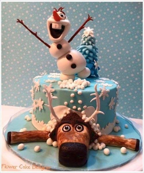 FLOWER CAKE DESIGNER: Bolo do tema Frozen