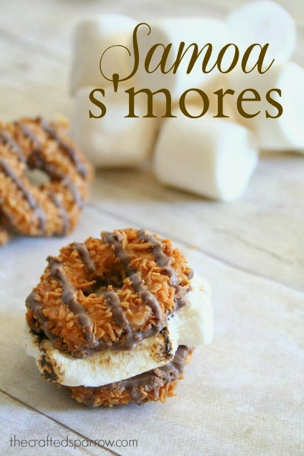 Samoa S'Mores - Oh no, this could be dangerous.