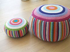 I hope these are ottomans, I love ottomans. I could have a house full of ottomans. It would be my ottoman empire.