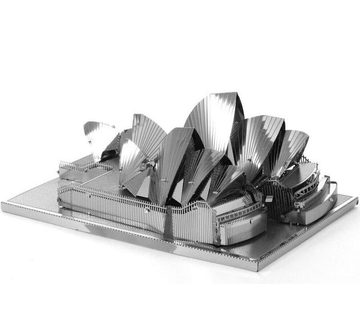 Mini 3D Metal Model Puzzle For Adult Children Educational Toys DIY Sydney Opera