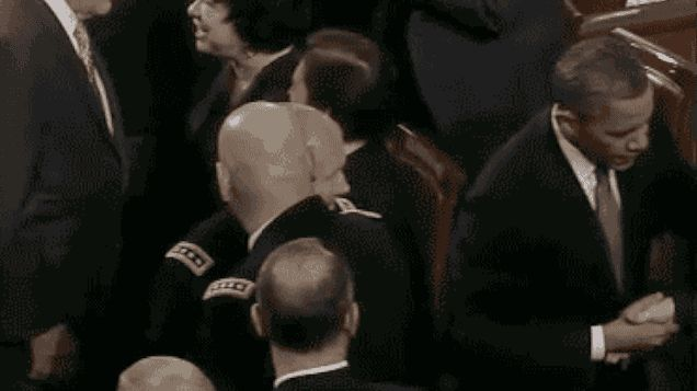 This GIF of Obama's Exploding Bipartisan Fist Bump Is the State of the Union Highlight
