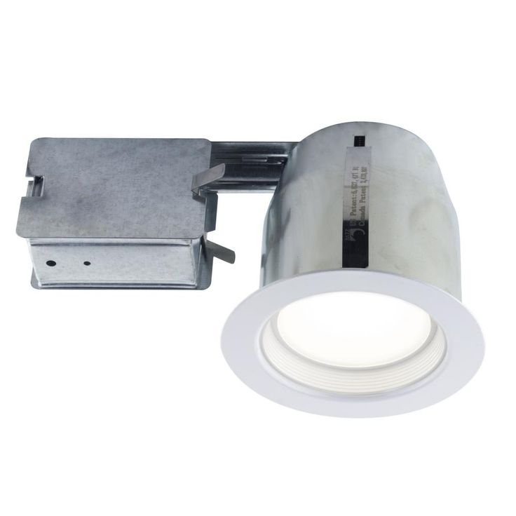 BAZZ 4.13 in. White Recessed Lighting Fixture Designed for Insulated Ceiling in Damp Locations