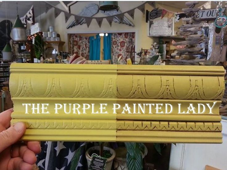 Sample Board The Purple Painted Lady Chalk Paint English Yellow