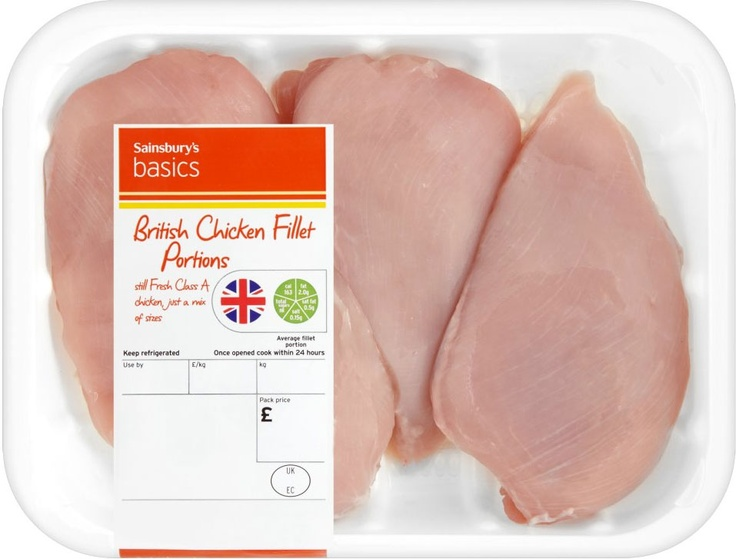 Sainsbury's Basics British Chicken Fillet (Approx 610g)