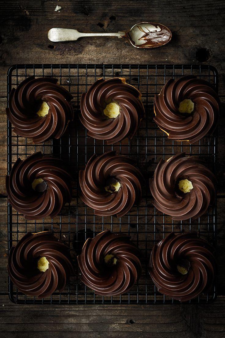 Bizcochitos de limón y chocolate