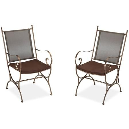 Home Styles Sundance Outdoor Dining Chair with Cushion, Set of 2, Copper