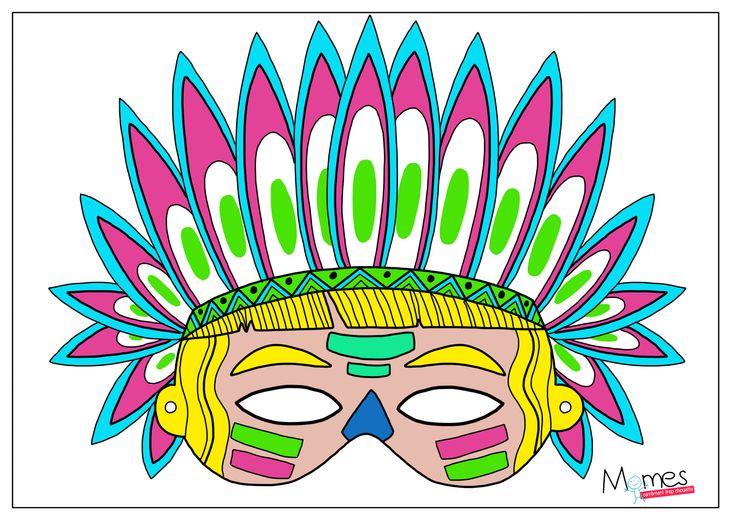 Des masques pour Mardi Gras (à colorier ou juste imprimer) - Le blog de momes.net