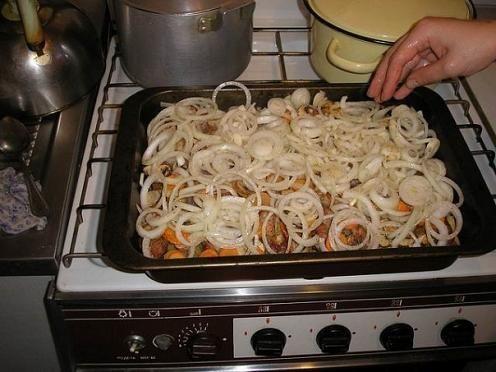 Мясо с картошкой в духовке  Источник: http://www.kuroed.com/recipe/70699/