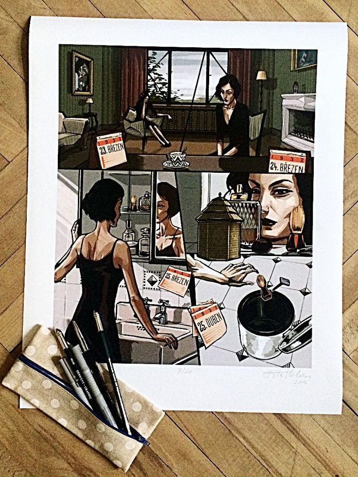 Holoubek - Petr Holman #komiksovakytice #ceskygrimm #kjerben #holoubek