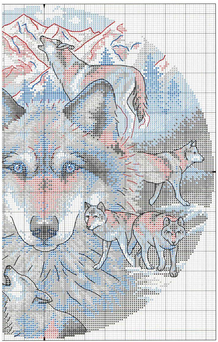 схема крестиком волков картинки