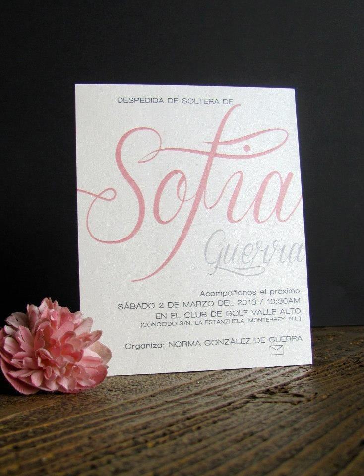 Invitación despedida de soltera  Bridal shower invitation