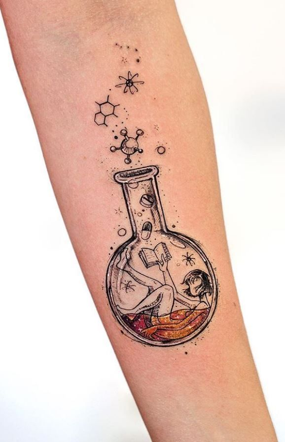 Girl in a Bottle Tattoo – Marika