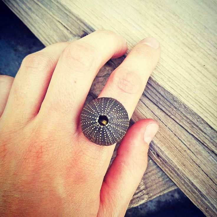 Sea Urchin Oxidized Ring by AnVhandmadecreations #summering #etsyjewelry #anvhandmadecreations #etsysale #etsy #sale #jewelrysale #giftsale #anvhandmadecreations #etsyshop