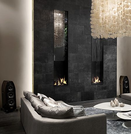 Fireplace in leather !