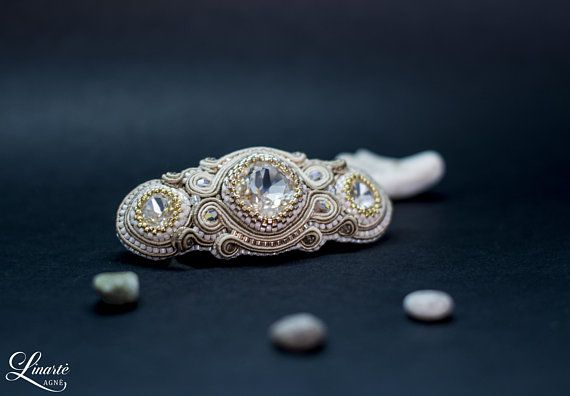 Hey, I found this really awesome Etsy listing at https://www.etsy.com/listing/585939436/soutache-swarovski-crystals-hair-pin