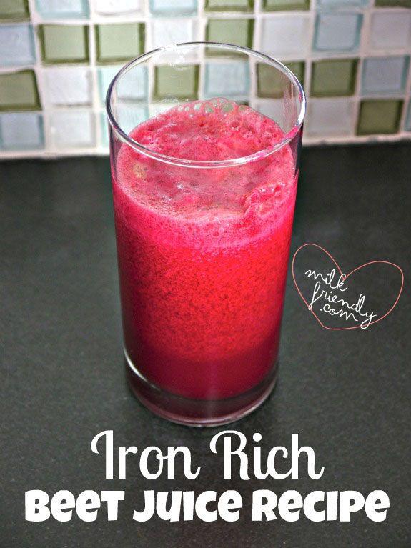 Milk-Friendly: {Healthy Pregnancy}: Iron Rich Beet Juice Recipe