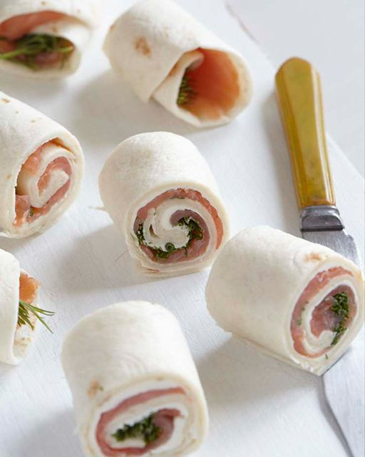 Sweet Paul's smoked salmon rolls