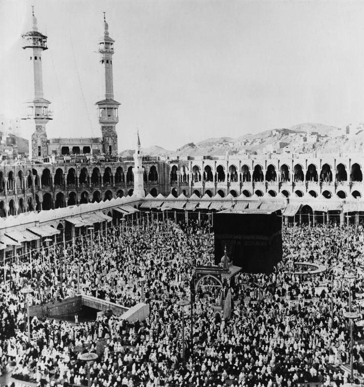 The Kaaba in the centre of the Masjid al-Haram in Mecca, Saudi Arabia, 21st March 1967.