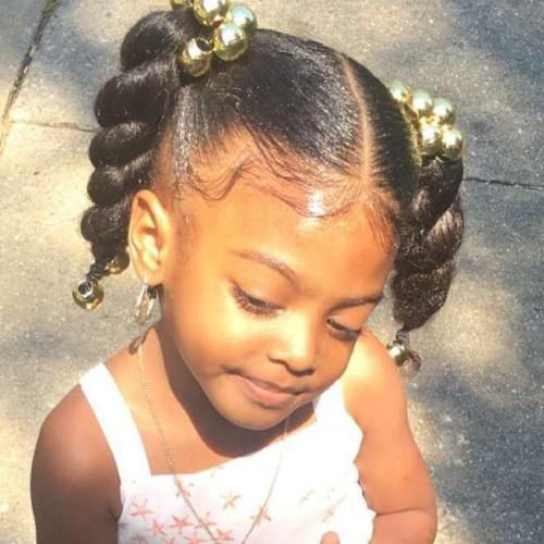 Two Twists Black Kids Hairstyle