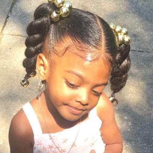 Terrific 1000 Ideas About Black Kids Hairstyles On Pinterest Kid Hairstyles For Women Draintrainus