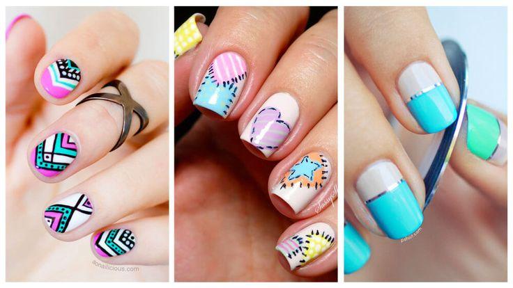 Más de 15 Hermosas imagenes de uñas decoradas en tonos pastel