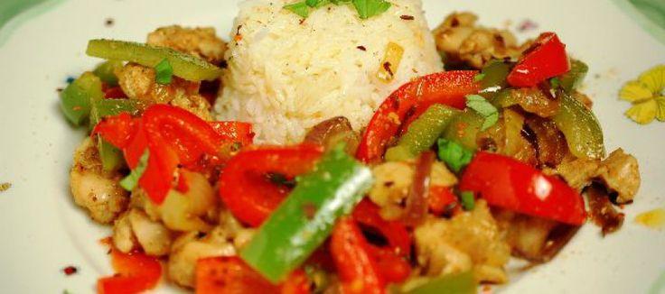 Recept Kipfajitas met rijst